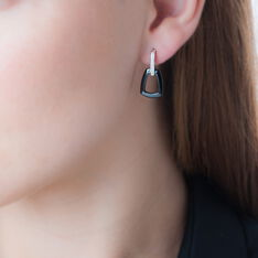 Boucles D'oreilles Pendantes Ezra Argent Céramique Et Oxyde - Boucles d'oreilles Pendantes Femme | Marc Orian