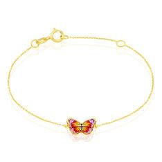 Bracelet Sulivia Papillon Or Jaune - Bracelets chaînes Enfant | Marc Orian