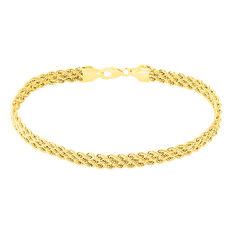 Bracelet Jerry Maille Corde 3 Rangs Or Jaune - Bracelets Femme | Marc Orian