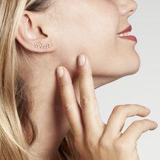 Bijoux D'oreilles Fabrizia Plaque Or Jaune Oxyde De Zirconium - Boucles d'oreilles Ear cuffs Femme | Marc Orian