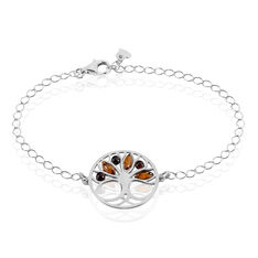 Bracelet Odaya Argent Blanc Ambre - Bracelets chaînes Femme   Marc Orian
