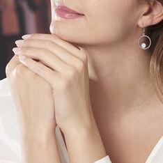 Boucles D'oreilles Pendantes Milano Argent Blanc Oxyde De Zirconium - Boucles d'oreilles Pendantes Femme | Marc Orian