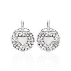 Boucles D'oreilles Pendantes Ivany Argent Blanc Oxyde De Zirconium - Boucles d'oreilles Pendantes Femme | Marc Orian