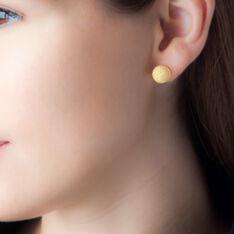 Boucles D'oreilles Puces Martina Argent Jaune - Clous d'oreilles Femme | Marc Orian