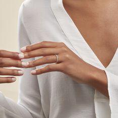 Bague Maryne Argent Blanc Oxyde De Zirconium - Bagues Solitaire Femme   Marc Orian