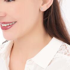 Boucles D'oreilles Puces Loeiza Argent Blanc Oxyde De Zirconium - Clous d'oreilles Femme | Marc Orian