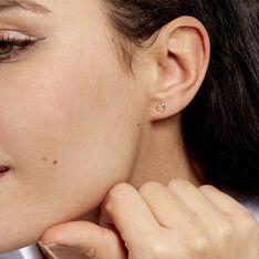 Boucles D'oreilles Puces Anne-maudae Coeurs Or Jaune - Clous d'oreilles Femme | Marc Orian