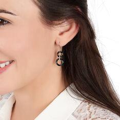 Boucles D'oreilles Pendantes Narcissa Argent Céramique Et Oxyde - Boucles d'oreilles Pendantes Femme | Marc Orian