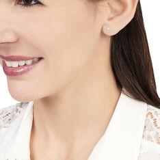 Boucles D'oreilles Puces Daria Or Blanc Oxyde De Zirconium - Clous d'oreilles Femme   Marc Orian