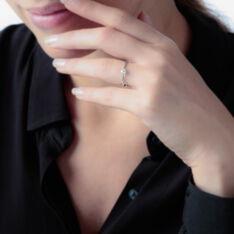 Solitaire Or Blanc Natalia Diamant - Bagues Solitaire Femme | Marc Orian