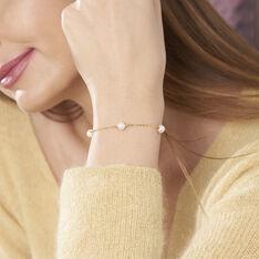 Bracelet Cannelle Or Jaune Perle De Culture - Bracelets chaînes Femme | Marc Orian