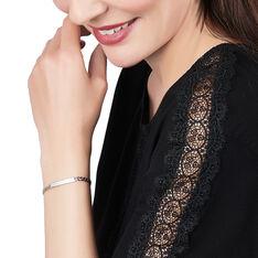 Bracelet Identité Clementine Maille Gourmette Argent Blanc - Bracelets fantaisie Femme | Marc Orian