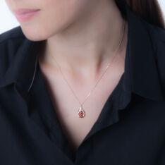Collier Aurora Or Jaune Rubis Et Diamant - Colliers Femme | Marc Orian