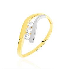 Bague Kim-lien Or Bicolore Diamant - Bagues fiançailles Femme | Marc Orian