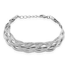 Bracelet Armella Maille Anglaise Acier Blanc - Bracelets Femme | Marc Orian
