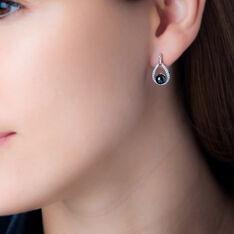 Boucles D'oreilles Pendantes Nerea Argent Céramique Et Oxyde - Boucles d'oreilles Pendantes Femme | Marc Orian