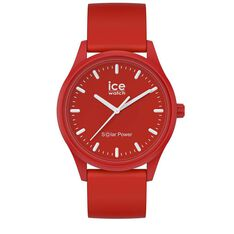 Montre Ice Watch Solar Power Rouge - Montres Unisexe | Marc Orian