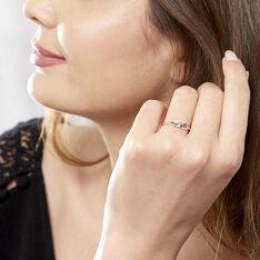 Bague Rosalyne Or Blanc Saphir Et Diamant - Bagues fiançailles Femme | Marc Orian