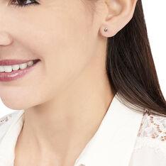 Boucles D'oreilles Puces Doreen Carre Or Blanc Oxyde De Zirconium - Clous d'oreilles Femme | Marc Orian