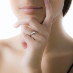 Bague Nesryne Or Blanc Oxyde De Zirconium - Bagues Solitaire Femme | Marc Orian