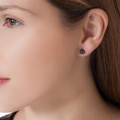 Boucles D'oreilles Puces Solene Argent Blanc Céramique - Clous d'oreilles Femme   Marc Orian
