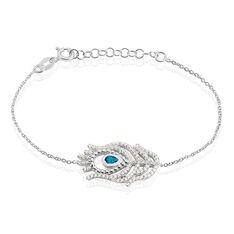Bracelet Peacock Argent Blanc Oxyde De Zirconium - Bracelets chaînes Femme | Marc Orian