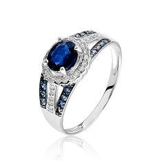 Bague Taliya Or Blanc Saphir Diamant - Bagues Solitaire Femme | Marc Orian