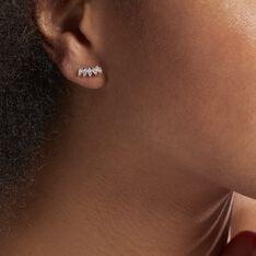 Bijoux D'oreilles Edma Or Rose Oxyde De Zirconium - Boucles d'oreilles Ear cuffs Femme | Marc Orian