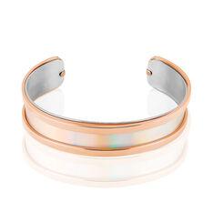 Jonc Acier Rose Kayssi Deux Rangs - Bracelets jonc Femme   Marc Orian