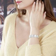 Bracelet Jonc Zoe Argent Blanc - Bracelets jonc Femme | Marc Orian