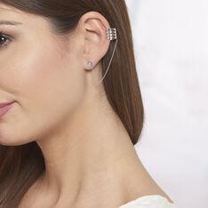 Bijoux D'oreilles Trina Argent Blanc - Boucles d'oreilles Ear cuffs Femme | Marc Orian