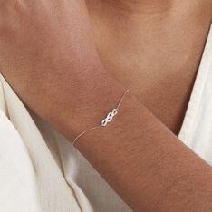 Bracelet Ursulla Or Blanc Diamant - Bracelets chaînes Femme | Marc Orian