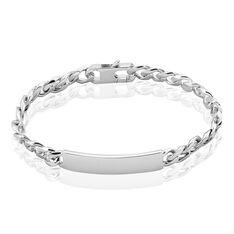 Bracelet Identité Casper Argent Rhodié - Gourmettes Femme | Marc Orian