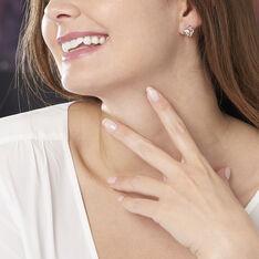 Boucles D'oreilles Puces Djanaelle Plaque Or Jaune Oxyde De Zirconium - Clous d'oreilles Femme | Marc Orian