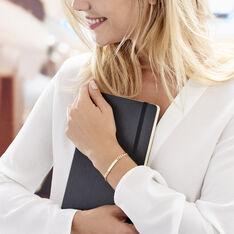 Bracelet Identité Carla Maille Gourmette Plaque Or Jaune - Bracelets fantaisie Femme | Marc Orian