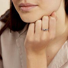 Bague Amarylis Or Blanc Saphir Diamant - Bagues Femme   Marc Orian