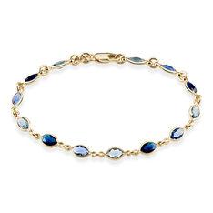 Bracelet Ilvaae Plaque Or Jaune Pierre De Synthese - Bracelets chaînes Femme | Marc Orian