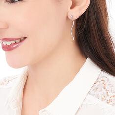 Boucles D'oreilles Pendantes Yaell Argent Blanc - Boucles d'oreilles Pendantes Femme | Marc Orian