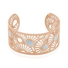 Bracelet Jonc Imagine Florette Strass Acier Rose Strass - Bracelets jonc Femme | Marc Orian