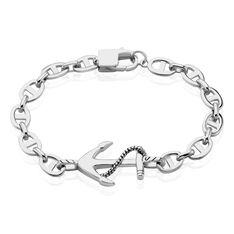 Bracelet Maximo Argent Blanc - Bracelets mailles Homme   Marc Orian