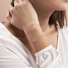 Bracelet Anna Argent Blanc Oxyde De Zirconium - Bracelets chaînes Femme   Marc Orian