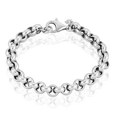 Bracelet Carola Maille Jaseron Argent Blanc - Bracelets mailles Femme | Marc Orian