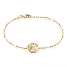 Bracelet Plaque Or Laurina Ronde Rosace Oxyde - Bracelets chaînes Femme | Marc Orian
