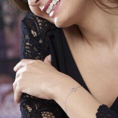 Bracelet Absolu Or Blanc Diamant - Bracelets chaînes Femme   Marc Orian