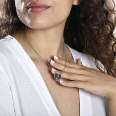 Collier Abrar Argent Blanc - Colliers Femme | Marc Orian