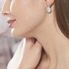 Bijoux D'oreilles Argent Rhodie Aleksandra Pastille Oxyde - Boucles d'oreilles Ear cuffs Femme | Marc Orian