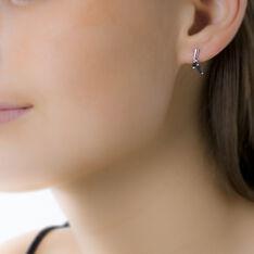Boucles D'oreilles Pendantes Navette Or Blanc Saphir - Boucles d'oreilles Pendantes Femme | Marc Orian