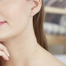 Boucles D'oreilles Puces Carre Argent Blanc Oxyde De Zirconium - Clous d'oreilles Femme | Marc Orian