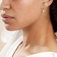 Boucles D'oreilles Pendantes Goutte Or Jaune Oxyde De Zirconium - Boucles d'oreilles Pendantes Femme | Marc Orian