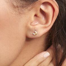 Boucles D'oreilles Puces Francoise-marie Lune Or Jaune Oxyde - Clous d'oreilles Femme | Marc Orian
